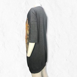 "ASOS Dresses - Gray ASOS 3/4 Sleeve Sweater ""72"" Dress Sz 2"